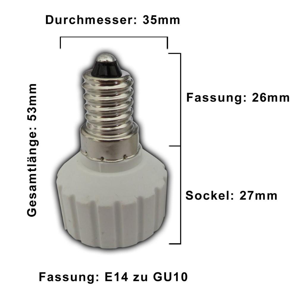 1x e14 fassung adapter auf gu10 sockel lampensockel adaptersockel splitter ebay. Black Bedroom Furniture Sets. Home Design Ideas