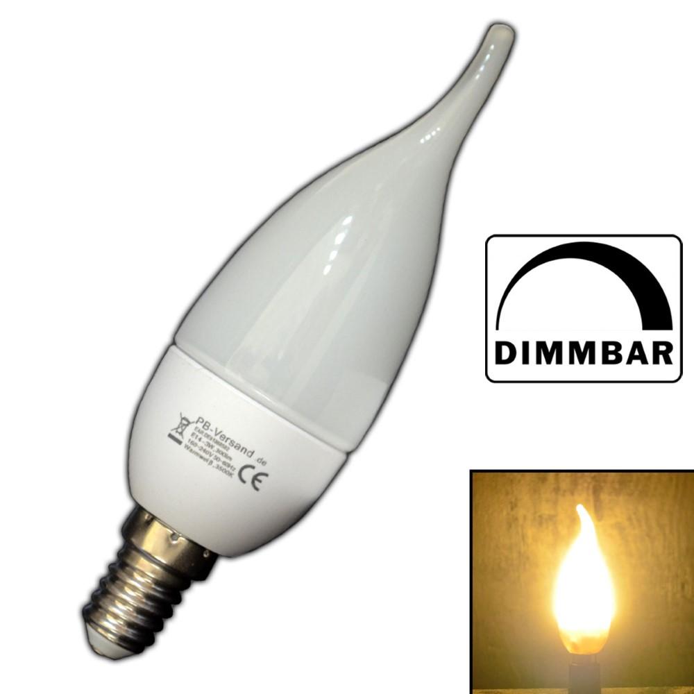 dimmbare e14 led windsto kerze kerzenform warmwei birne lampe dimmer birne ebay. Black Bedroom Furniture Sets. Home Design Ideas