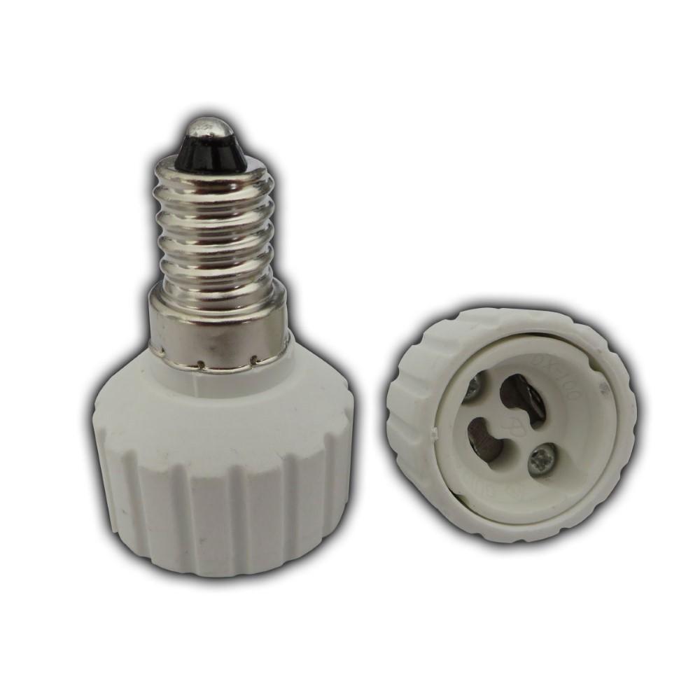 3x e14 adapter auf gu10 fassung sockel lampensockel adaptersockel splitter ebay. Black Bedroom Furniture Sets. Home Design Ideas
