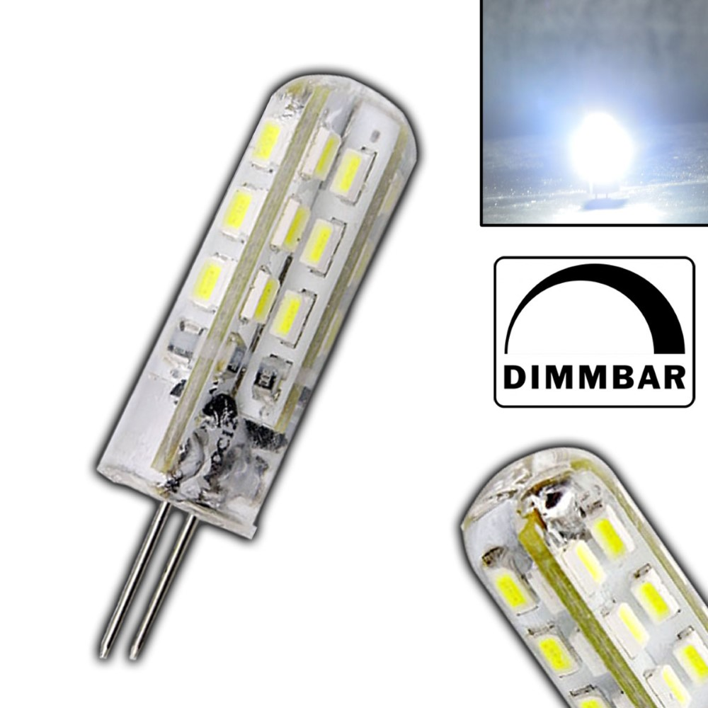 g4 led 1 5 watt lampe dimmbar kaltwei 12v dc 24 smd dimmer gl hbirne silicia ebay. Black Bedroom Furniture Sets. Home Design Ideas
