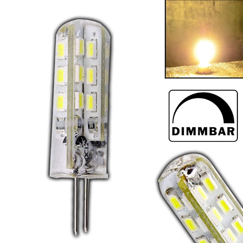 g4 led 1 5 watt lampe dimmbar warmwei 12v dc 24 smd dimmer gl hbirne silicia 4260412581085 ebay. Black Bedroom Furniture Sets. Home Design Ideas
