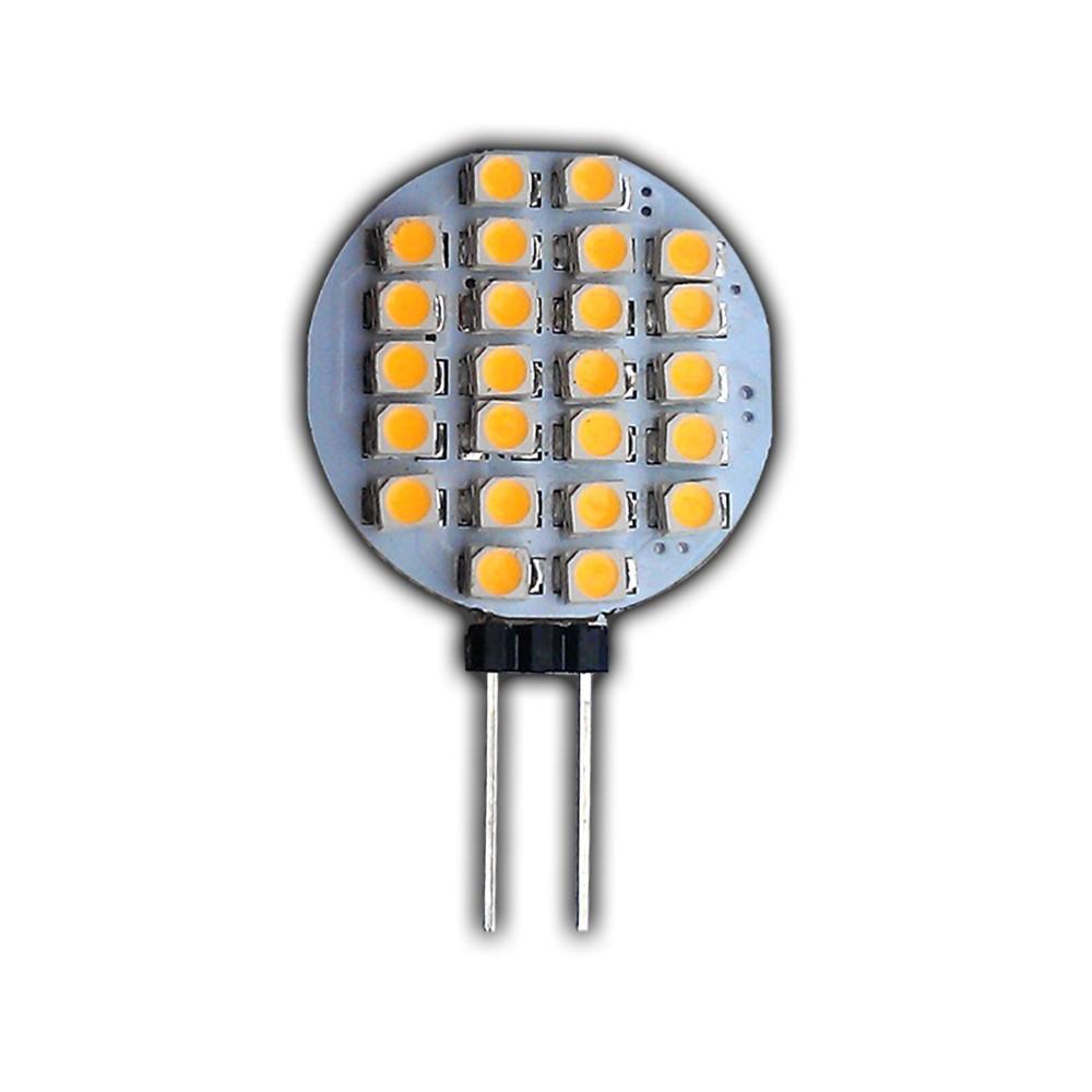 g4 led 24 smd 12v dc 1 watt warmwei leuchtmittel lampe birne scheibe rund 120 ebay. Black Bedroom Furniture Sets. Home Design Ideas