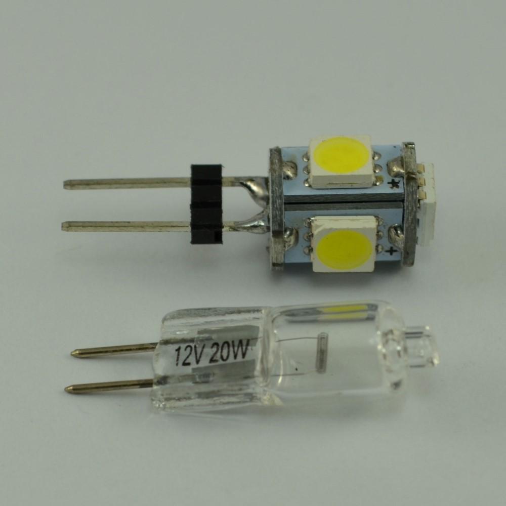 g4 led 1 watt mit 5 smd warmwei 12v dc lampe leuchtmittel birne halogen ebay. Black Bedroom Furniture Sets. Home Design Ideas