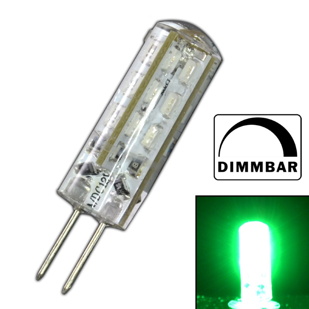 g4 led 1 5 watt gr n dimmbar leuchtmittel 12v dc dimmer gl hbirne birne 24 smd ebay. Black Bedroom Furniture Sets. Home Design Ideas