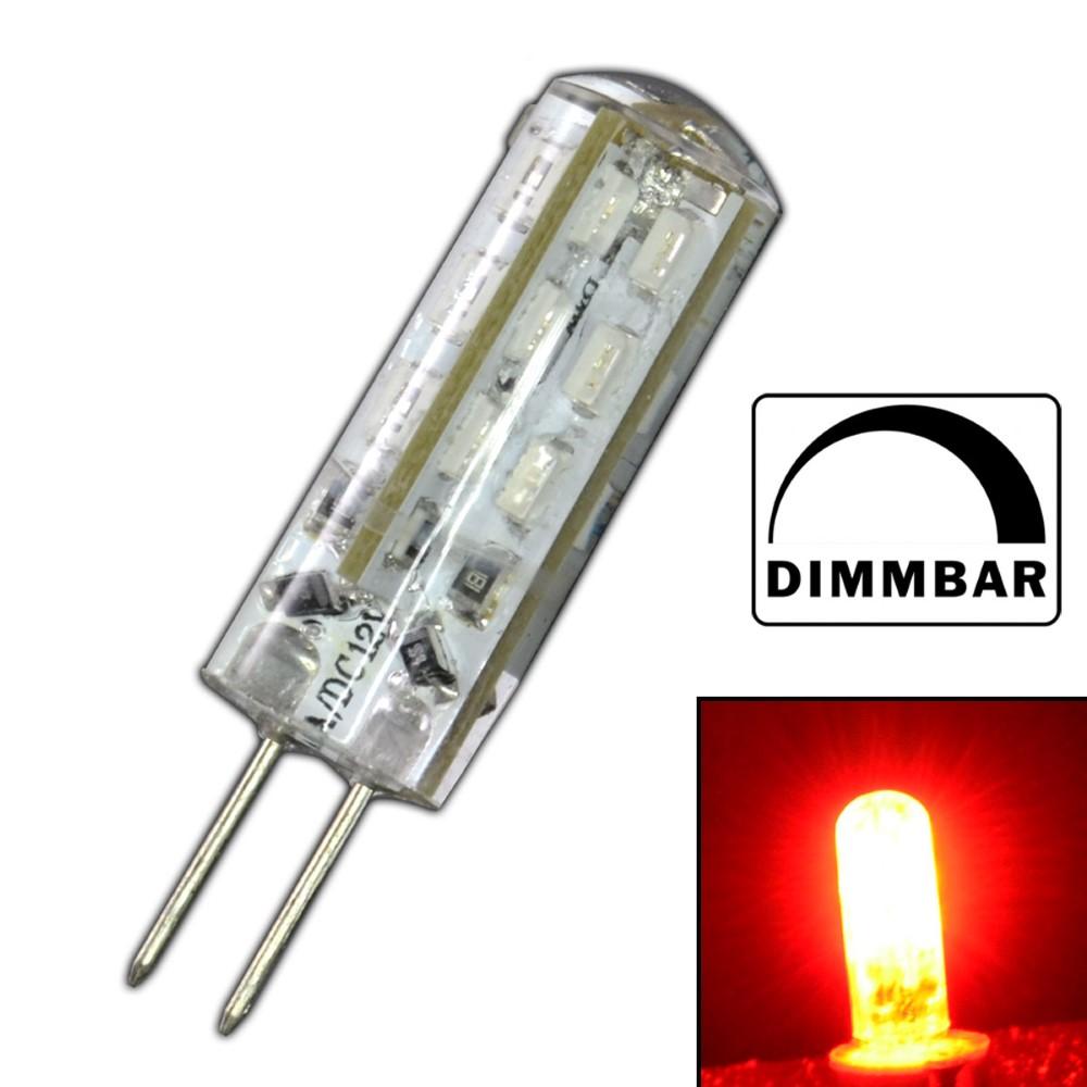 g4 led 1 5 watt rot rotlicht dimmbar 12v dc dimmer lampe. Black Bedroom Furniture Sets. Home Design Ideas