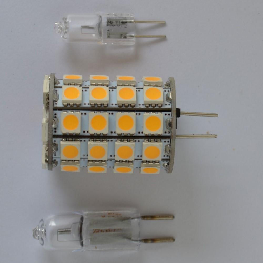 led 6 watt 35w halogen 12v ac dc 49x5050 warmwei birne lampe ebay. Black Bedroom Furniture Sets. Home Design Ideas