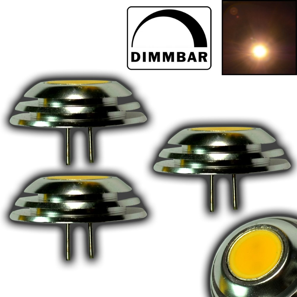 3x g4 gu4 1 5w mini led 12v dc cob dimmbar knopfform warmwei leuchtmittel 10w ebay. Black Bedroom Furniture Sets. Home Design Ideas