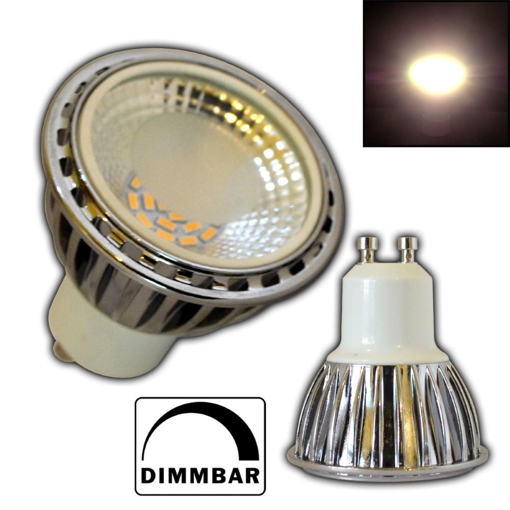 gu10 led dimmbar gu10 led strahler 6w glas cob 70. Black Bedroom Furniture Sets. Home Design Ideas