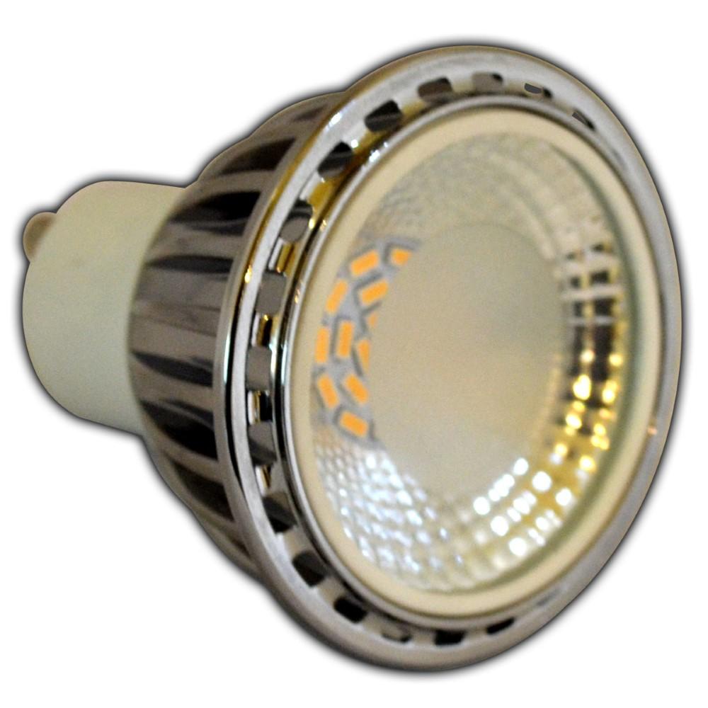 2x gu10 led 7 watt dimmbar aluminium warmwei reflektor. Black Bedroom Furniture Sets. Home Design Ideas