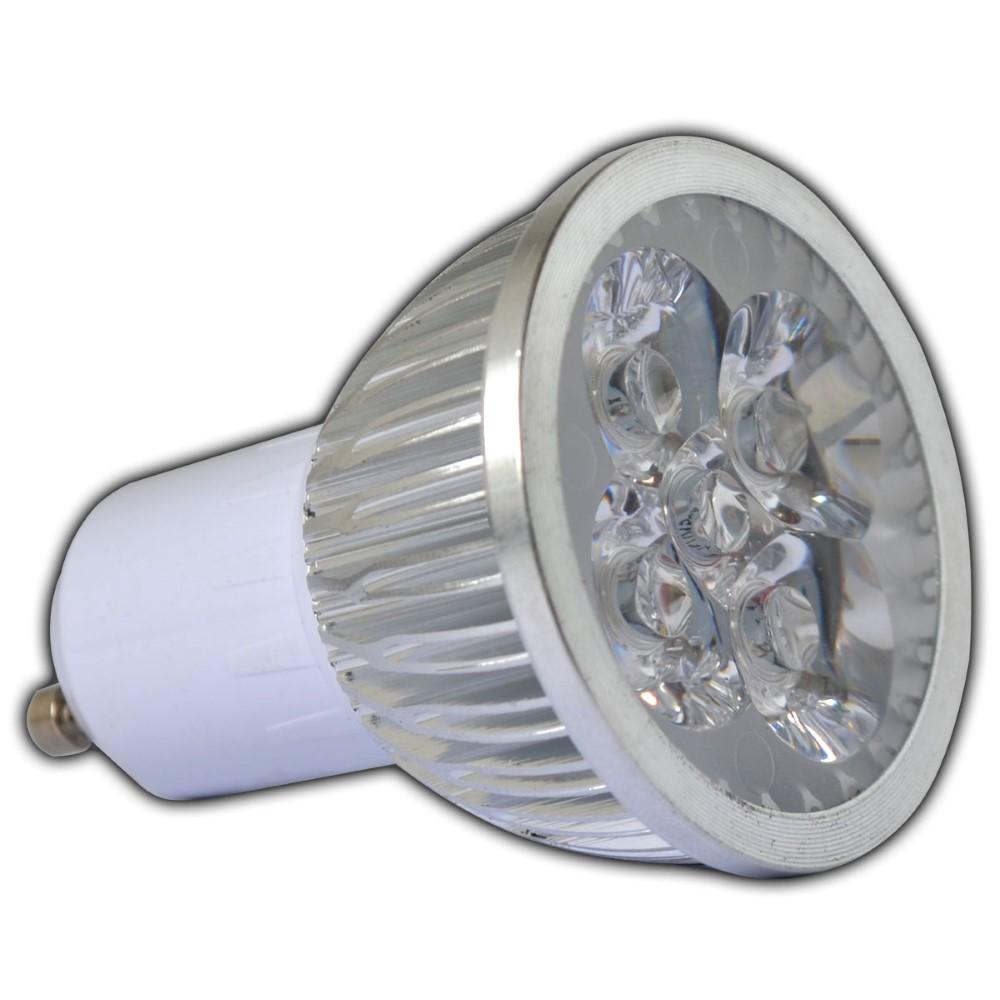 3x gu10 4 watt 350lm led spot warmwei energiesparlampe lampe strahler gl hbirne ebay. Black Bedroom Furniture Sets. Home Design Ideas
