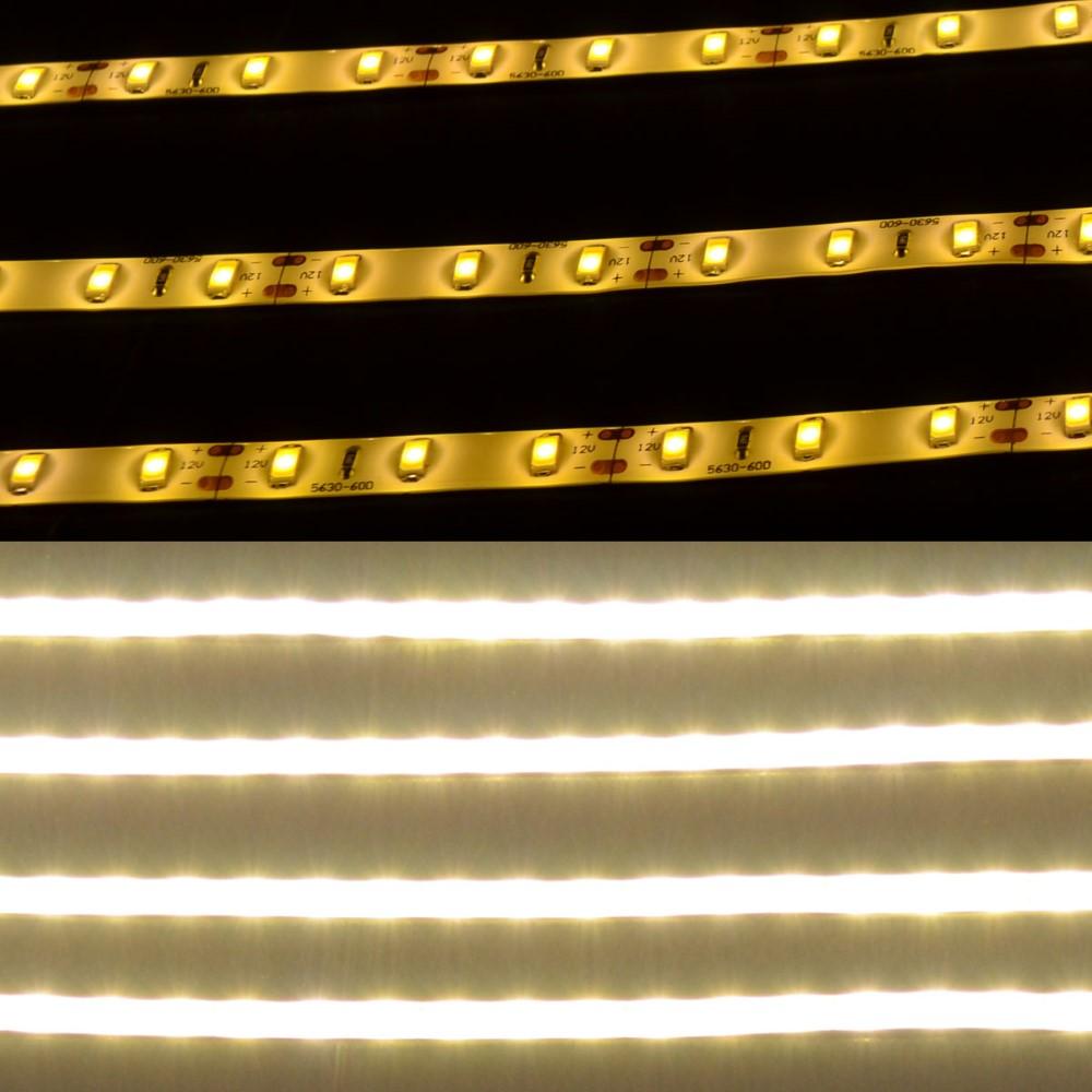 5m led strip streifen 60x smd 5630 ip65 warmwei band lichterkette wasserfest ebay. Black Bedroom Furniture Sets. Home Design Ideas
