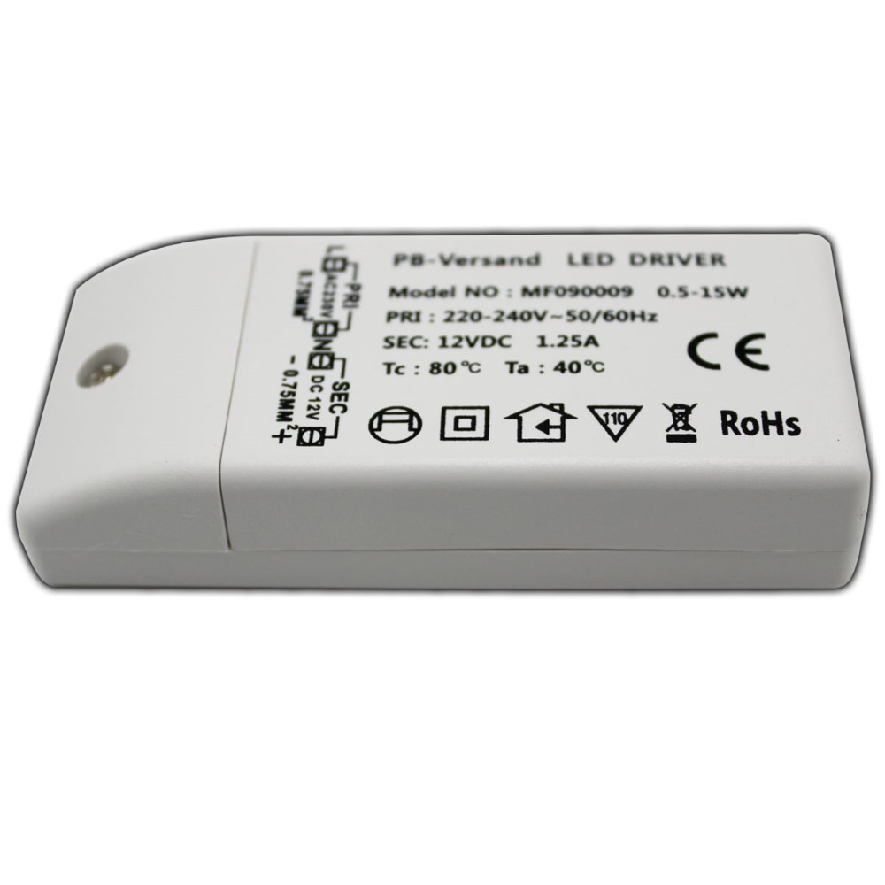 led trafo 0 5 15 watt 12v dc mit netzkabel schalter transformator netzteil 4260412584307 ebay. Black Bedroom Furniture Sets. Home Design Ideas